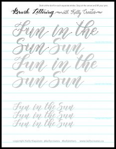 Free summer quote printable worksheet download template www.kellycreates.ca Fun in the Sun