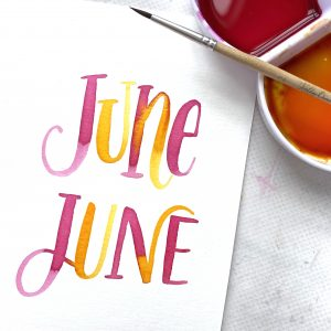 June free printable lettering template to download from kellycreates.ca