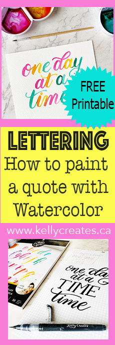 how to paint a quote with watercolor www.kellycreates.ca