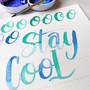 watercolor lettering free summer printable template www.kellycreates.ca