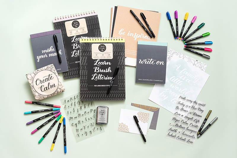 learn calligraphy and brush lettering workbooks