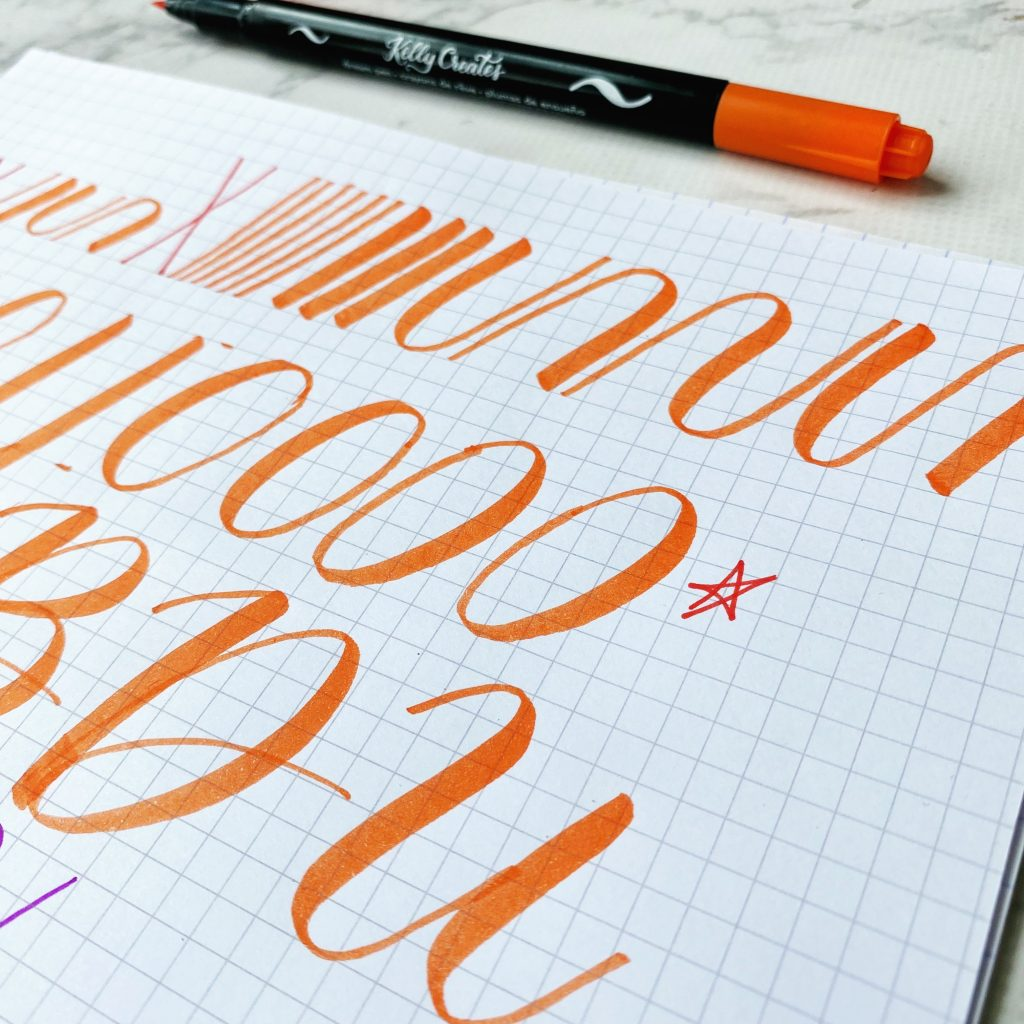 learn how to supersize your calligraphy practice www.kellycreates.ca