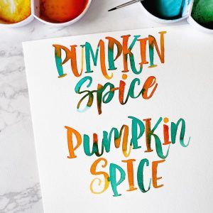 pumpkin spice lettering free printable template to download and practice www.kellycreates.ca