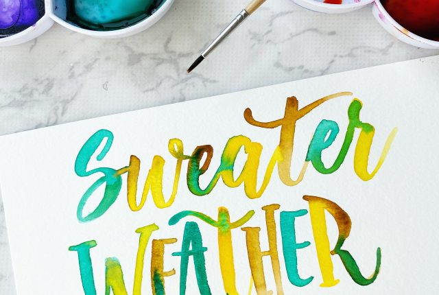 free printable download template to practice lettering sweater weather www.kellycreates.ca