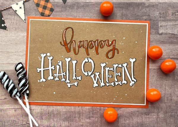 halloween hand lettering tutorial www.kellycreates.ca