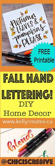 free printable home decor for fall autumn hand lettering www.kellycreates.ca